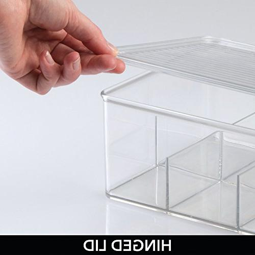 mDesign Bag Box Countertops, Pantry Lid Food Safe Beverage Cups, - Clear