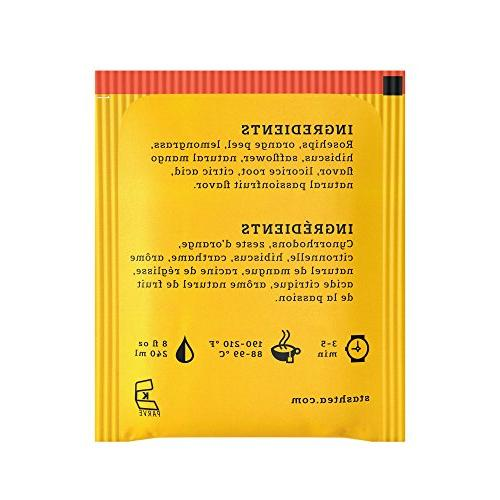 Stash Mango Passionfruit Herbal Tea 100 Box of in Foil Tea Bags for in or Cups, Brew or Iced Tea