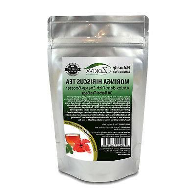 moringa hibiscus tea bags 30 bags all