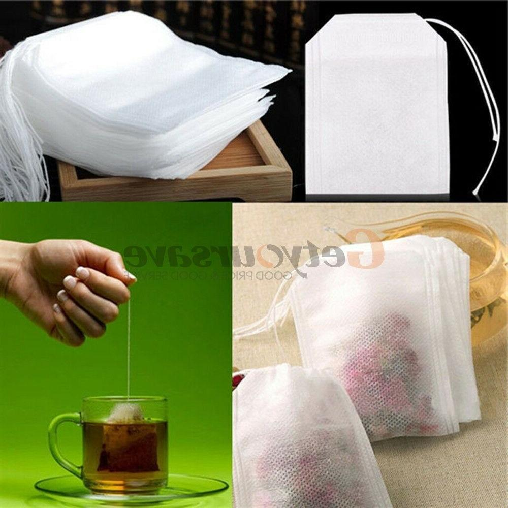 multiple size non woven empty teabags string