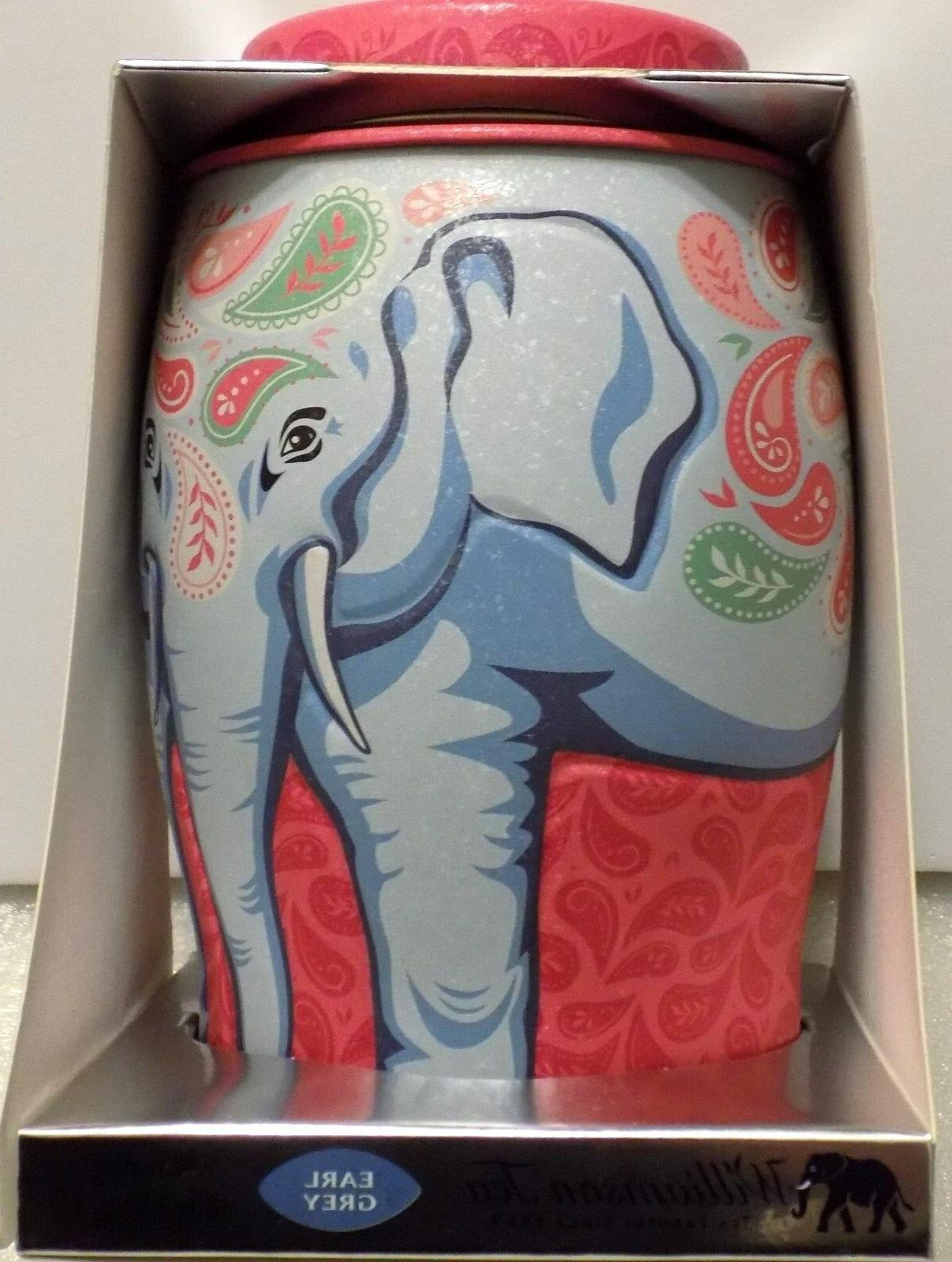New Williamson Tea Paisley Elephant Tin Canister bags