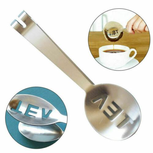 new stainless teabag tongs tea bag squeezer