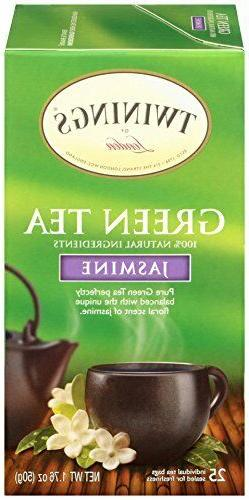 Twinings of London Jasmine Green Tea Bags, 25 unidades