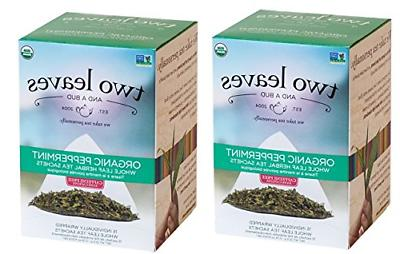 Two Leaves And A Bud Peppermint Tea 30 Count Pack of 2