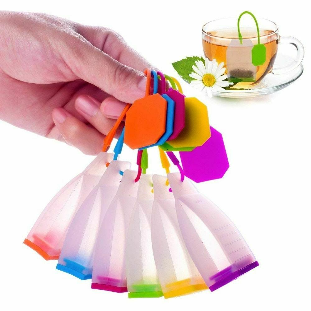 Silicone Tea Infusers Strainers Bag Herbal Spice Kitchen Tea