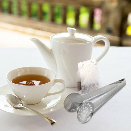 Stainless Steel Teabag Tongs Squeezer Holder