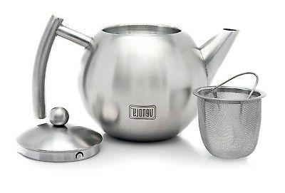 Stainless Pot With Removable For Loose Leaf & Bags -...