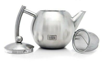 Stainless Steel Tea Pot With Removable For Loose Leaf Bags -...