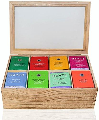 Stash Bags Sampler Assortment COUNT - Perfect Pack in Wooden Box Family, English Mint, more