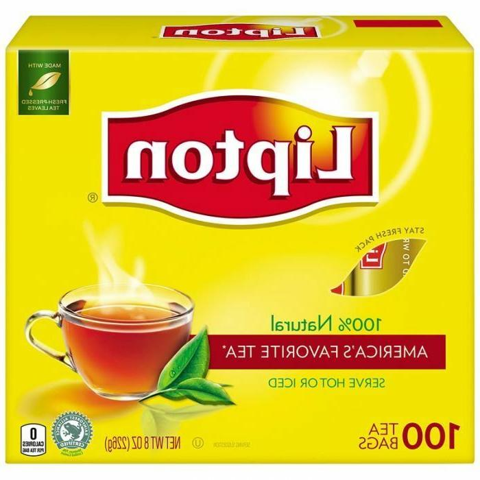 Lipton Tea Bags 100 % Natural Tea Original Regular 100 Count