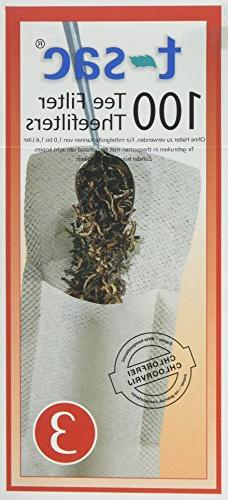 T-Sac Tea Filter Bags, Disposable Tea Infuser, Number 3-Size