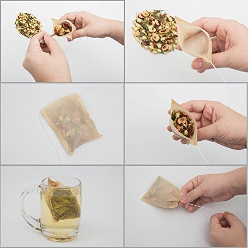 BetyBedy Disposable & 1-Cup Capacity, Empty Bag for Leaf Tea, Set of 100 (3.15 x 3.94