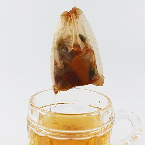 300PCS Bags, Disposable Tea with Drawstring Safe Strong Penetration Unbleached Loose Coffee