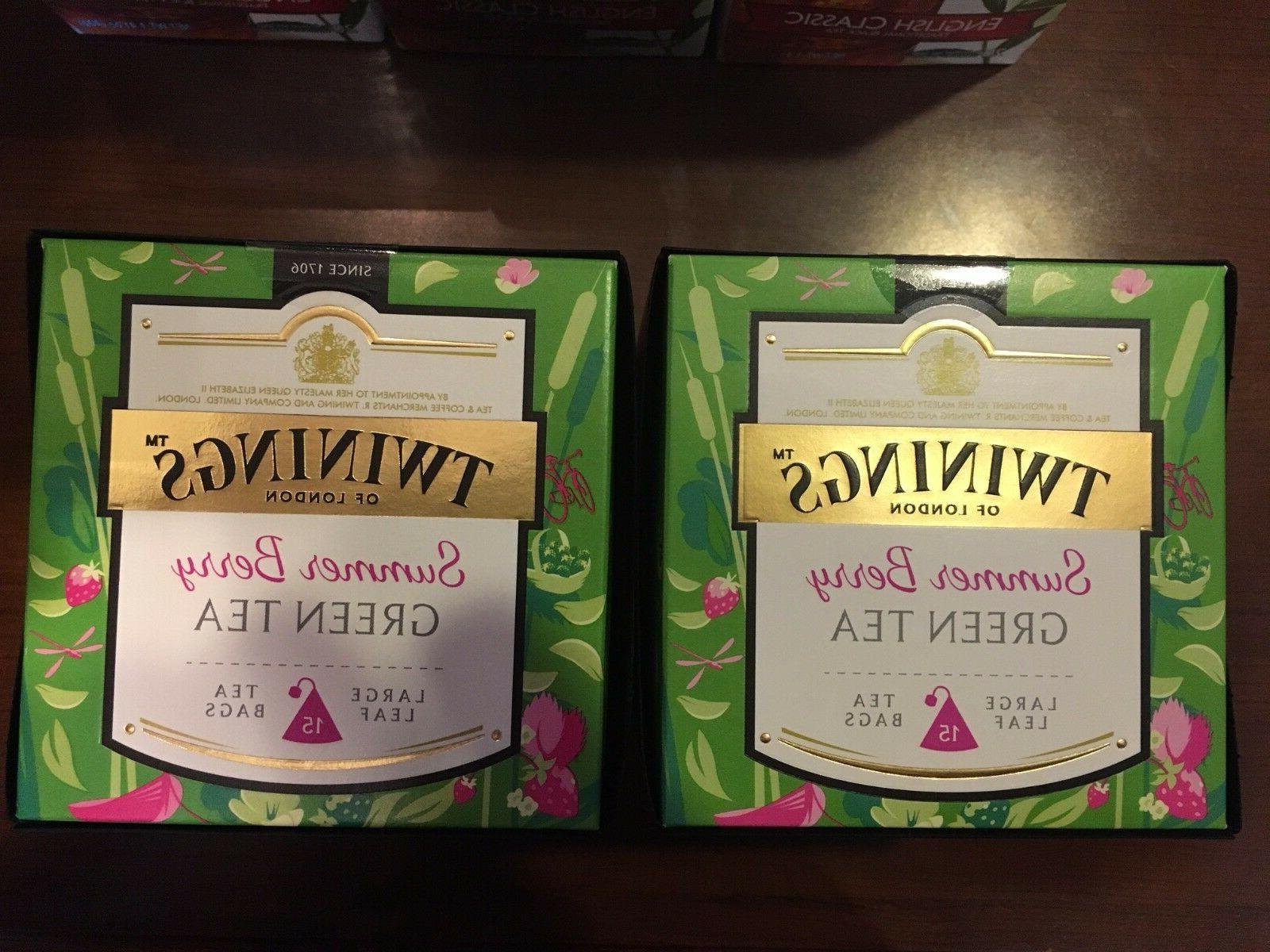 Twinings Tea Summer Berry Green Tea Discovery Collection Pyr