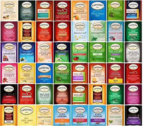 Twinings Sampler Count Includes Green, Black, Herbal, Earl Grey, Camomile, Chai and More By The Cup