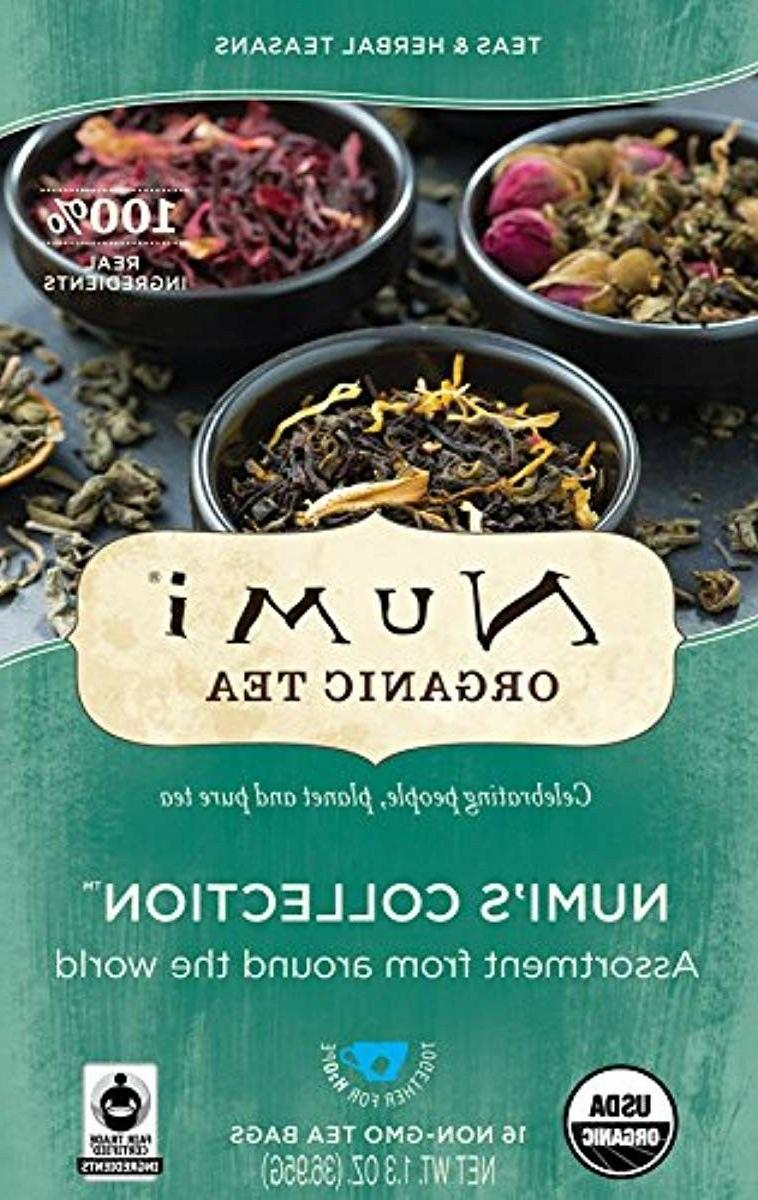 Numi Variety Pack, 16 Bags, Collection Assorted Teas Tisanes