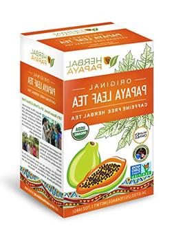 Papaya Leaf Tea 24 teabags Organic - From Herbal Papaya