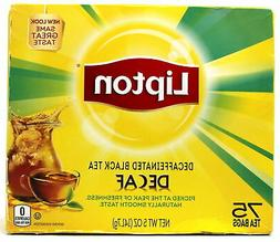 Lipton Black Tea Bags, Decaffeinated, 75 Count , 1 Pack