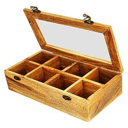 Fathers Day Gifts Wooden Tea Box Storage Chest Organizer Hol