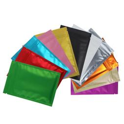 New Flat Clear/Silver/Colored Mylar Zip Lock Bags in Variety