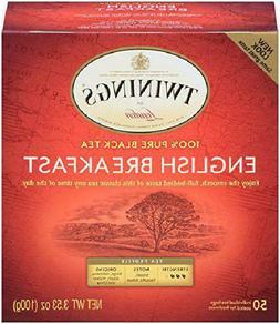 Twinings of London English Breakfast Tea Bags, 50 Count