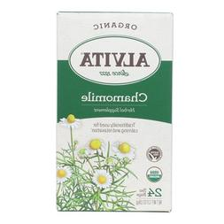 Alvita Organic Herbal Tea Bags, Chamomile, 24 Count