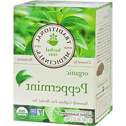 Traditional Medicinals Organic Herbal Tea Peppermint -- 16 T