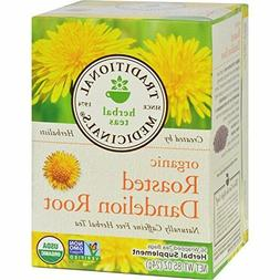 Traditional Medicinals Organic Roasted Dandelion Root Tea  J