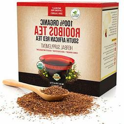 Organic Rooibos Tea Bags - Caffeine Free South African Red T
