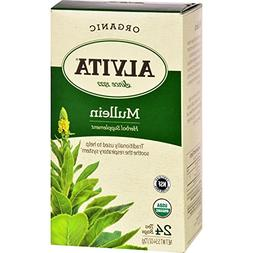 Alvita Organic Tea Herbal Supplement - Mullein Leaf - 24 Bag