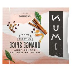 Numi Organic Tea Orange Spice, 100 Count Box of Tea Bags, Wh