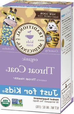 Traditional Medicinals Organic Throat Coat Just for Kids Her