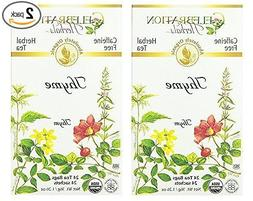 Celebration Herbals Organic Thyme Tea Caffeine Free - 2 Pack