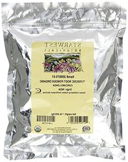 Starwest Botanicals Organic Turmeric Root Powder 1 Pound Bag