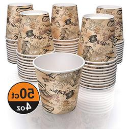 4 oz paper cups for coffee tea and water - decorated paper c