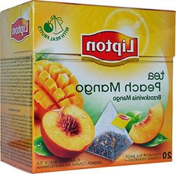 Lipton - PEACH & MANGO - 20 count box  Pyramid tea bags