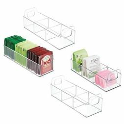 plastic kitchen tea bag organizer storage caddy