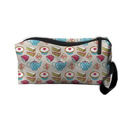 Portable Outdoor Cosmetic Toiletry Clutch Bag Teapot And Cak
