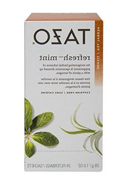 Tazo Refresh Mint Filter Bag Tea, 20-Count Packages