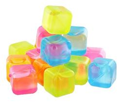 Reusable Plastic Ice Cubes , 32 Count