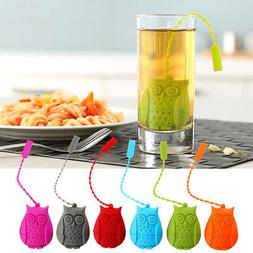 Reusable Silicone Owl Tea Bag Holder Infuser Filter Diffuser