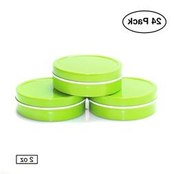 Mimi Pack 2 oz Small Round Tin Can Empty Solid Top Slip Lid