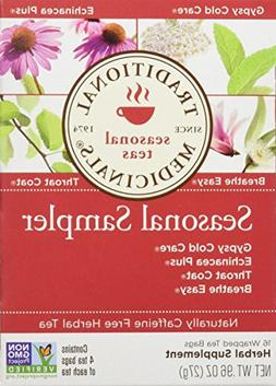 Traditional Medicinals Seasonal Herb Tea Sampler, 16 Count