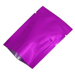 500 Pcs Purple Aluminum Foil Mylar Bags Open Top Heat Seal P