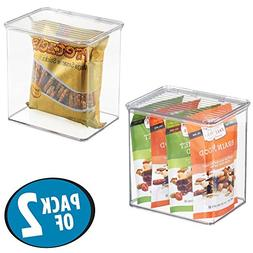 mDesign Stackable Kitchen Pantry Cabinet or Refrigerator Foo
