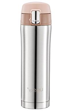 LifeSky Stainless Steel Insulated Travel Coffee Mug, Double