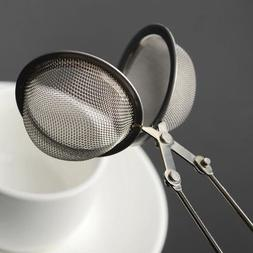Stainless Steel Tea Bag Herbal Spice Squeezer Infuser Filter