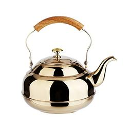 Venoly Stainless Steel Tea Pot With Removable Infuser For Lo