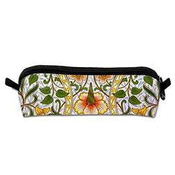 YAHJFW Stationery Bags-Beautiful-Flowers Pencil Case School