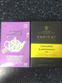 TAYLORS ORGANIC CHAMOMILE & ENGLISH TEA SHOP CHAMOMILE LAVEN